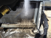 Walk-In Cooler Condenser cleaning