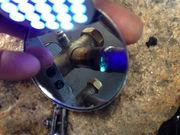 Refrigerant leak at suction service valve