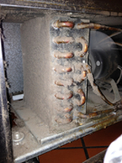 Poor maintenance system not cooling